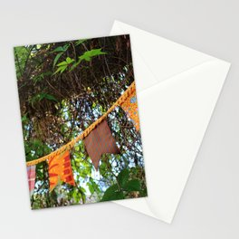 Flag garland in garden fiesta Stationery Cards