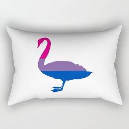 Bi Pride Swan Rectangular Pillow