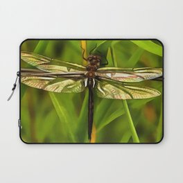 Dragonfly In Brown And Yellow Laptop Sleeve