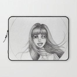 JennyMannoArt Graphite Drawing/Abbey Laptop Sleeve