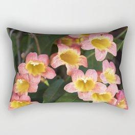Tangerine Beauty Cross Vine Cascade Rectangular Pillow