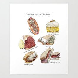 Sandwiches of Cleveland Art Print