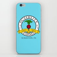 dwight schrute iPhone & iPod Skins featuring Schrute Farms | The Office - Dwight Schrute by Silvio Ledbetter