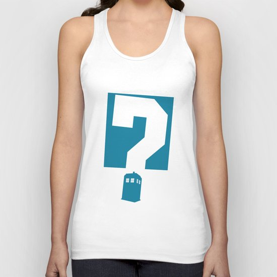 Doctor  Who? Unisex Tank Top