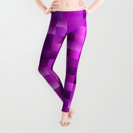 Purple rectangle pattern Leggings