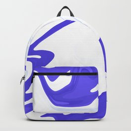 Abstract purple marble pattern Backpack