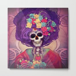 Day of the Death Catrina Metal Print