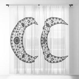 Crescent Moon Sheer Curtain