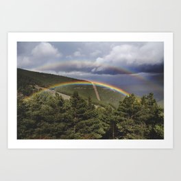 Two rainbows Art Print