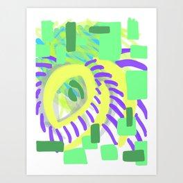 vibrant eye Art Print