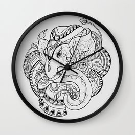 Thailand Elephant Wall Clock