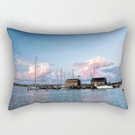Evening at the harbour Rectangular Pillow