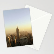 New York Skyline @ Dusk with Empire State Building Stationery Cards