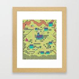 Just A Happy (Happy) Village Framed Art Print