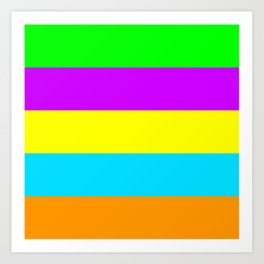 Neon Mix #4 Art Print