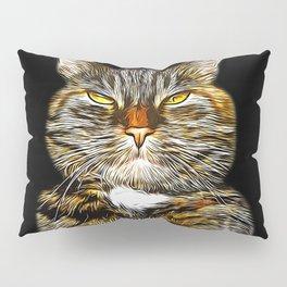 cat like a boss vector art Pillow Sham