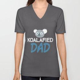 Koalafied Dad | Koala Koalas Father Daddy Bear Unisex V-Neck