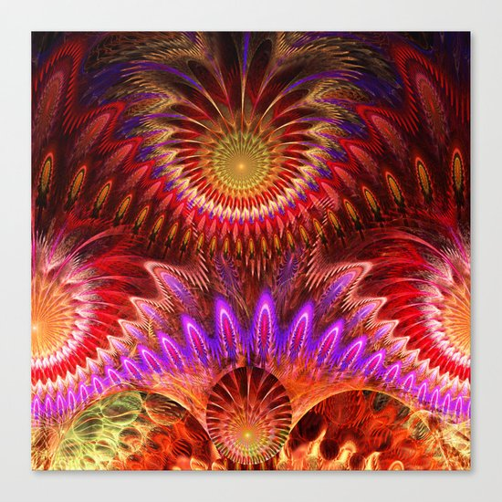Devious ways, colourful pattern abstract Canvas Print