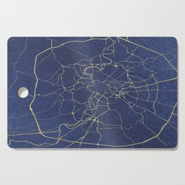 Rome Blue and Gold Street Map Cutting Board
