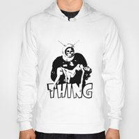 the thing Hoodies featuring THING by Taylor Bissett