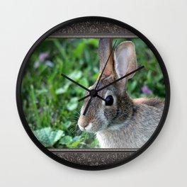 Wild Rabbit Wall Clock