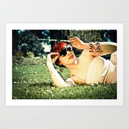 Peace, Love and Diamonds Art Print
