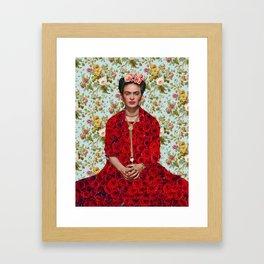 Flowers Frida Kahlo VIII Framed Art Print