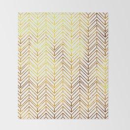 Gold Chevron Pattern Throw Blanket