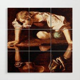 Michelangelo Merisi da Caravaggio, Narcissus at the Source, oil on canvas, 1597-99 Wood Wall Art