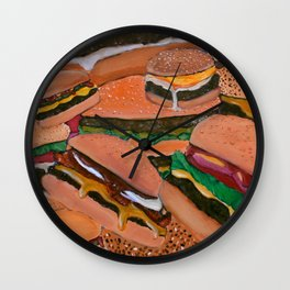 Royale With Cheese Wall Clock