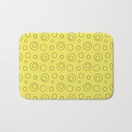 Yellow circle 5 Bath Mat