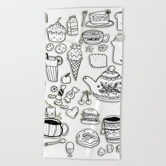 Forever Tea Time 2 Beach Towel