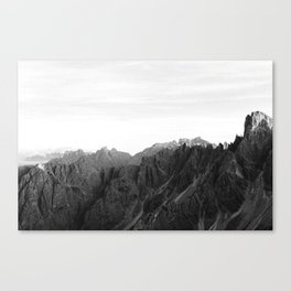 Mystical Mountains, Black and white Landscape Nature Dolomites, Italy Photography Art Print Canvas Print