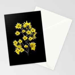 Sunflowers Over Black Stationery Cards