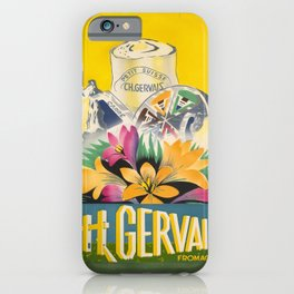 Advertisement ch gervais fromages x affiche iPhone Case