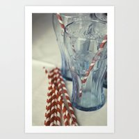 coca cola Art Prints featuring Coca~Cola by Heather McGuire