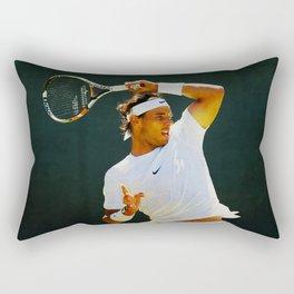 Nadal Tennis Over the Head Forehand Rectangular Pillow