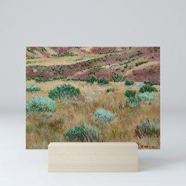 Boise foothills acrylic painting Mini Art Print