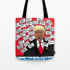 Trump Needs to go NOW Tote Bag