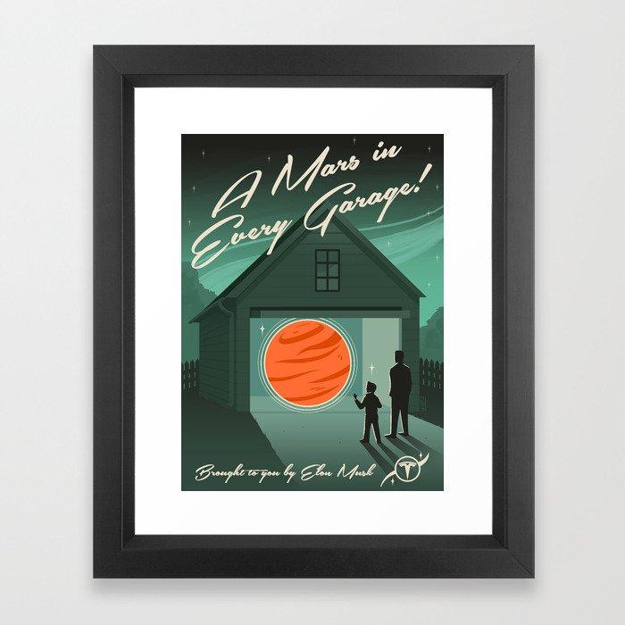 A Mars in Every Garage Framed Art Print