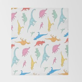 Dino Doodles Throw Blanket