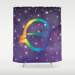 Eye in Universal  Shower Curtain