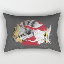 PAW MEI - The Wise Cat Rectangular Pillow