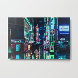 Neon in the Night Metal Print