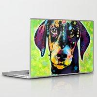 dachshund Laptop & iPad Skins featuring Dachshund by Gary Grayson