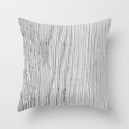 Urban Wood - White Cracked Throw Pillow