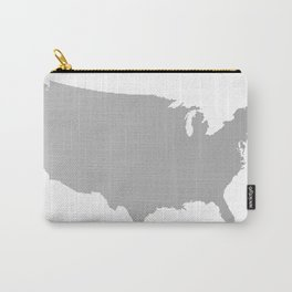 USA Map Halftone Silhouette Carry-All Pouch
