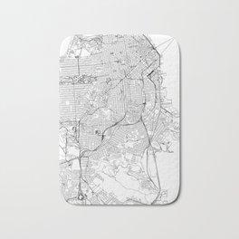 San Francisco White Map Bath Mat