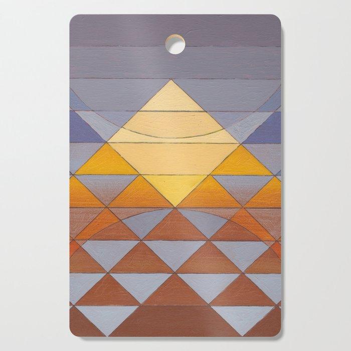 Pyramid Sun Mauve Purple Cutting Board