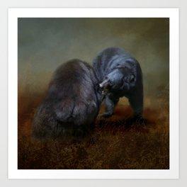 Bear Scrimmage Art Print